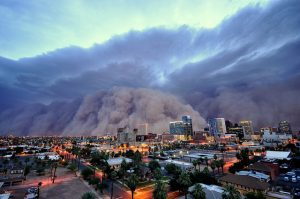 A 'Haboob' is a huge dust storm that often hits the Phoenix metro area in Summer.